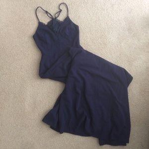 Lulus long blue lace dress